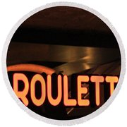 Roulette Round Beach Towel