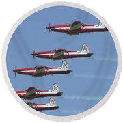 Roulettes In Tight Formation Round Beach Towel