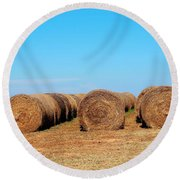 Round Bales Of Hay Round Beach Towel