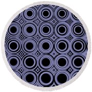 Round In Circles Round Beach Towel