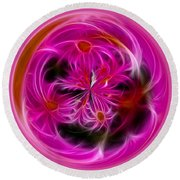 Round Pink And Pretty By Kaye Menner Round Beach Towel