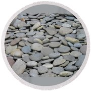 Round Rocks Round Beach Towel