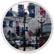 Round The Piccadilly Round Beach Towel