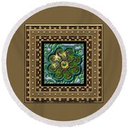Roundabouts Octos  Round Beach Towel