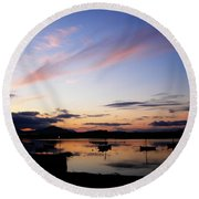 Roundstone Harbour Round Beach Towel