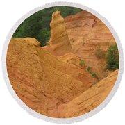 Roussillon Ochres Pigments Rock Round Beach Towel