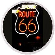 Route 66 2 Round Beach Towel