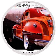 Route 66 America's Highway Round Beach Towel