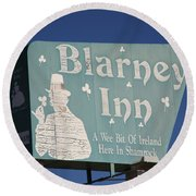 Route 66 - Blarney Inn Round Beach Towel