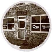 Route 66 Cafe 8 Round Beach Towel