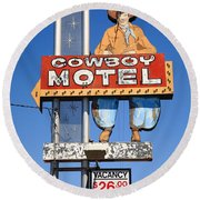 Route 66 - Cowboy Motel Round Beach Towel