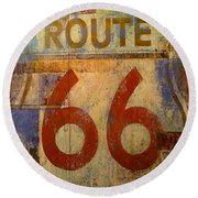Route 66 Round Beach Towel