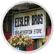 Route 66 - Eisler Brothers Old Riverton Store Round Beach Towel
