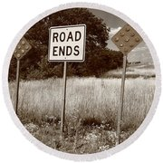 Route 66 - End Of The Road Round Beach Towel