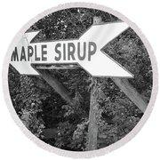 Route 66 - Funk's Grove Sirup Round Beach Towel