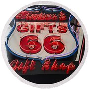 Route 66 Gifts Round Beach Towel