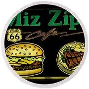 Route 66 Miz Zips Round Beach Towel