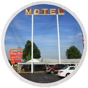 Route 66 - Munger Moss Motel Round Beach Towel