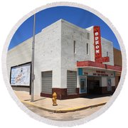 Route 66 - Odeon Theater Round Beach Towel