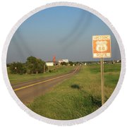 Route 66 - Oklahoma Round Beach Towel