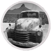 Route 66 - Old Chevy Pickup Round Beach Towel