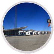 Route 66 - Roy's Cafe Round Beach Towel