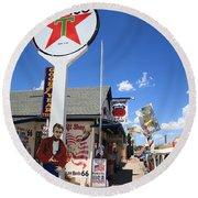 Route 66 - Seligman Arizona Round Beach Towel