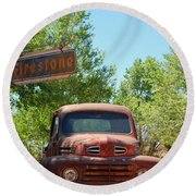 Route 66 Truck Round Beach Towel