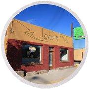 Route 66 - Uranium Cafe Round Beach Towel