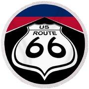 Route 66 - U. S. Round Beach Towel