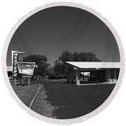 Route 66 - Western Motel 8 Round Beach Towel