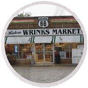 Route 66 - Wrink's Market Round Beach Towel