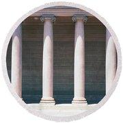 Row Of Columns San Francisco Ca Round Beach Towel