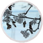 Rowan In Winter Round Beach Towel