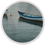 Rowboats Round Beach Towel
