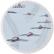 Rowers Arc-natural Round Beach Towel