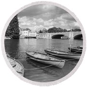 Rowing Boats Round Beach Towel