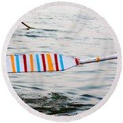 Rowing Oar Round Beach Towel