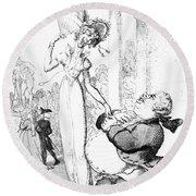 Rowlandson: Cartoon, 1810 Round Beach Towel