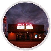 Roxy Theatre Round Beach Towel