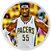 Roy Hibbert Round Beach Towel by Florian Rodarte