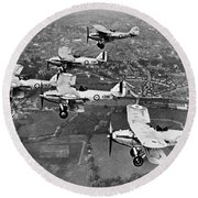 Royal Air Force Formation Round Beach Towel