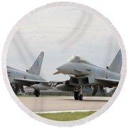 Royal Air Force Typhoon Aircraft  Round Beach Towel