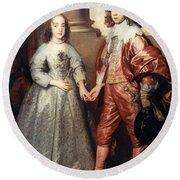 Royal Couple, 1641 Round Beach Towel