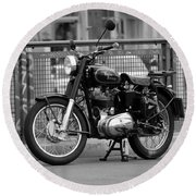 Royal Enfield Goes Berlin Round Beach Towel
