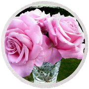 Royal Kate Roses Round Beach Towel by Will Borden