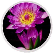 Royal Lily Round Beach Towel