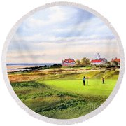 Royal Liverpool Golf Course Hoylake Round Beach Towel