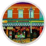 Royal Oaks British Pub Hillarys And Pc Perfect Glebe Central Paintings Of Ottawa Scenes C Spandau Round Beach Towel