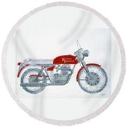 Royal Oil Round Beach Towel